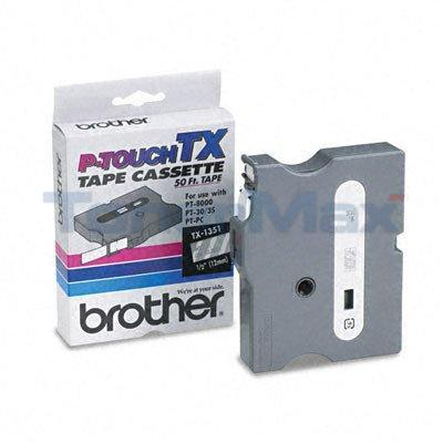 BROTHER P-TOUCH TAPE WHITE/CLEAR (1/2 X 50)
